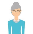 grandmother isolated icon design vector image