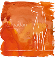 Ramadan greeting with camel vector image