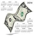 2014 Dancing Dollar Calendar vector image vector image