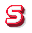 3d bold funny letter s heavy type for modern vector image