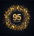 95 years anniversary isolated design vector image vector image