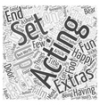 Acting Extras Word Cloud Concept