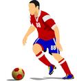 al 1041 soccer 02 vector image vector image