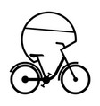 all weather bike vector image vector image
