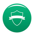 badge element icon green vector image vector image
