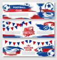 banners for soccer or football club vector image vector image