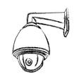 Black and White Surveillance Camera CCTV vector image