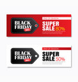 black friday sale shopping tag cover and web vector image vector image