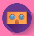 cardboard virtual reality glasses icon vector image vector image