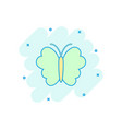 cartoon butterfly icon in comic style insect sign vector image