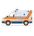 cartoon van medical car ambulance vehicle vector image vector image