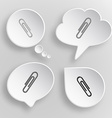 Clip White flat buttons on gray background vector image vector image