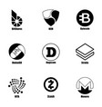 cryptocurrency icons set simple style vector image vector image