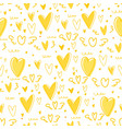 cute heart seamless pattern background vector image vector image