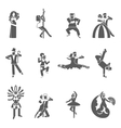 Dance Icon Set vector image vector image