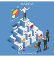 Data Analytics People Isometric vector image vector image