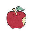 digitally drawn apple design hand drawing style vector image