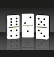 domino game play entertainment vector image
