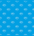 downhill bicycle pattern seamless blue vector image