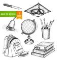 Education school set vector image