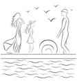 Family Sea vector image vector image