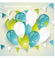 Festive background with colorful balloons pennants vector image vector image