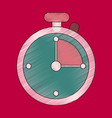 flat shading style icon stopwatch vector image vector image