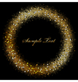 frame with gold sparkles vector image vector image