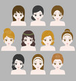 girl hair style collection vector image vector image