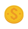 gold coin money dollar vector image vector image