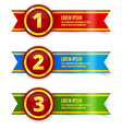 Golden with red medals vector image