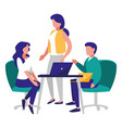 group of people in the workplace vector image