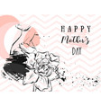 hand drawn abstract greeting card with vector image vector image