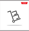 handcart icon for web site and application vector image