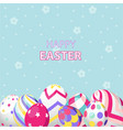 happy easter day greeting card vector image vector image