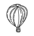 hot air balloon icon doodle hand drawn or outline vector image