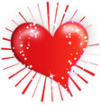 loving red heard valentines icon vector image