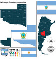 map of la pampa province argentina vector image