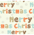 Merry Christmas seamless pattern ornate letters vector image