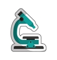 microscope laboratory isolated icon vector image vector image