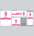 mock up realistic breast cancer icon with pink vector image vector image