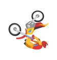 motorcyclist on motorbike sportsman performing vector image vector image