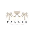 palace logo design symbol vect vector image