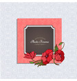 photo frame with flower vector image vector image