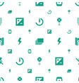 photographer icons pattern seamless white vector image vector image