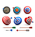 realistic targets set vector image vector image