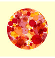 red and orange watercolor paint drops in cirle vector image vector image