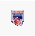 rugclub badges logo-4 vector image