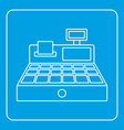 sale cash register icon outline vector image vector image