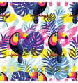 seamless pattern with toucan vector image vector image